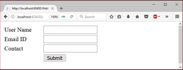 ADO.Net Web Form Example - javatpoint