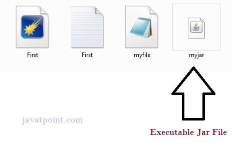 executable jar file in java