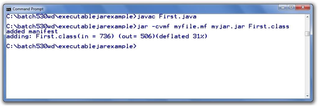 creating executable jar