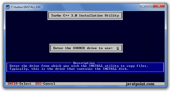 how to install turbo c