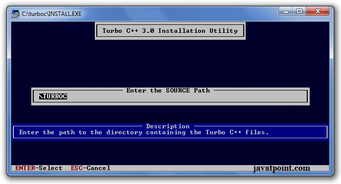 how to install turbo c++
