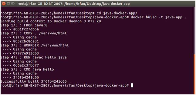Docker Java Example - javatpoint