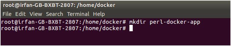 Docker Perl application 1