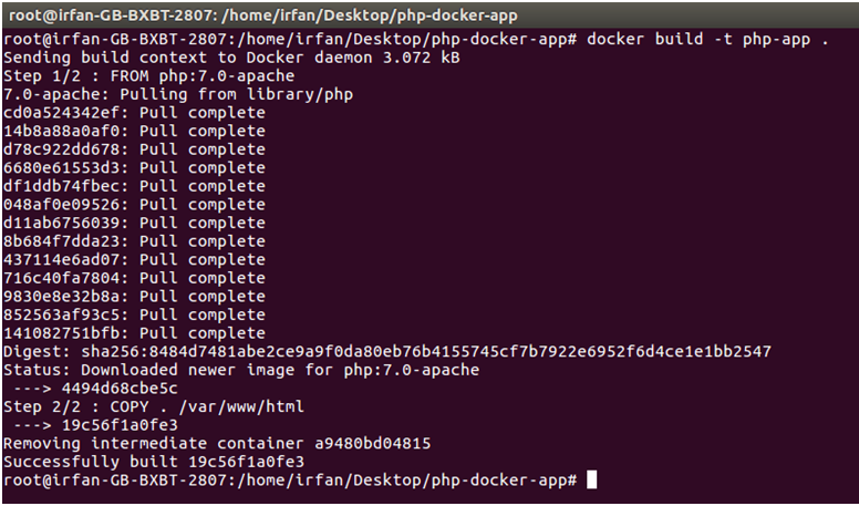 Docker Php application 3