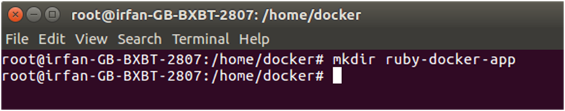 Docker Ruby application 1