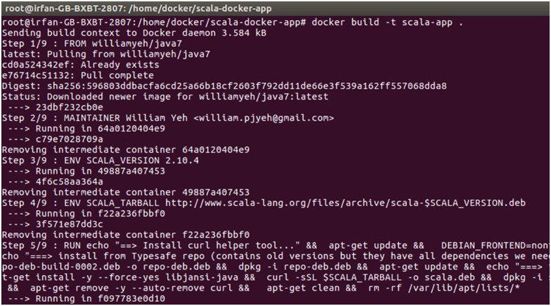 Docker Scala application 3