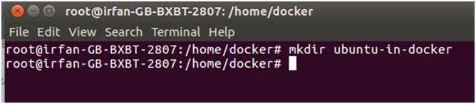 Docker Ubuntu application 1