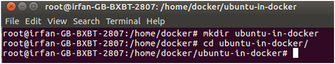 Docker Ubuntu application 2
