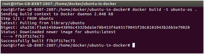Docker Ubuntu application 3