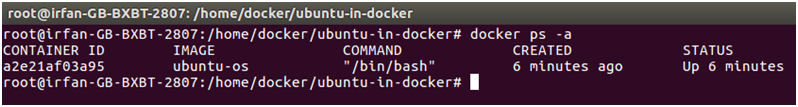 Docker Ubuntu application 5