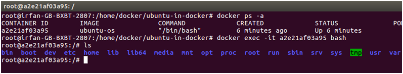 Docker Ubuntu application 7