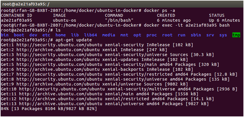 Docker Ubuntu application 8