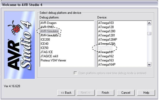 Programming using AVR Studio4