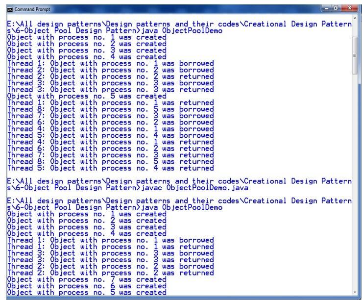 Object pool pattern javatpoint for Thread pool design pattern java