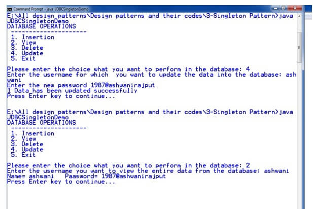 Singleton Design Patterns - Javatpoint