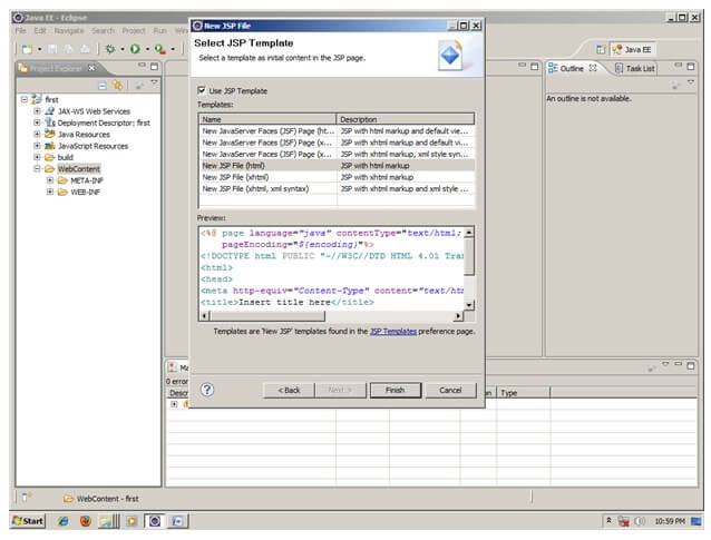 Creating Servlet in eclipse IDE