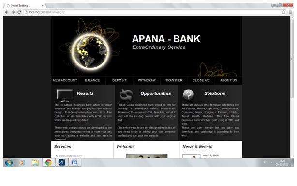 e banking project download