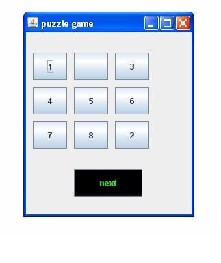 Puzzle game in swing