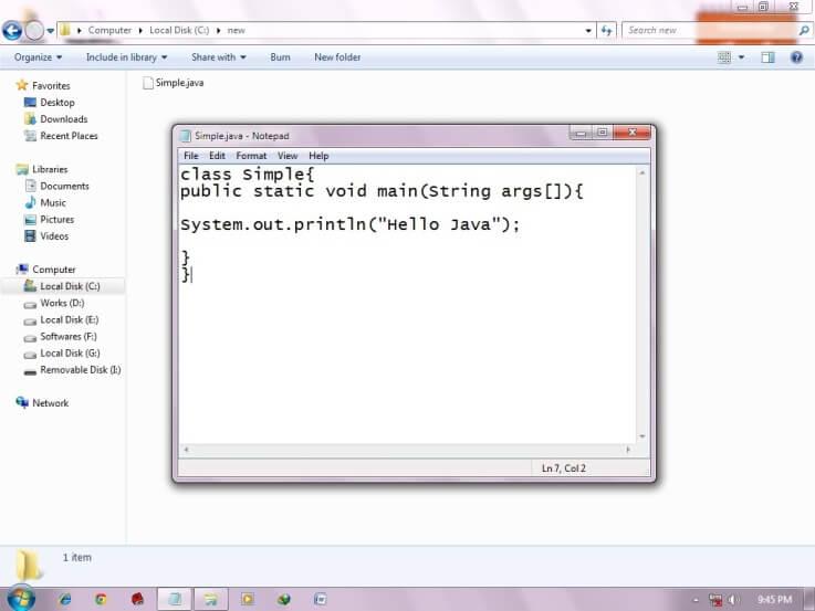 java simple program