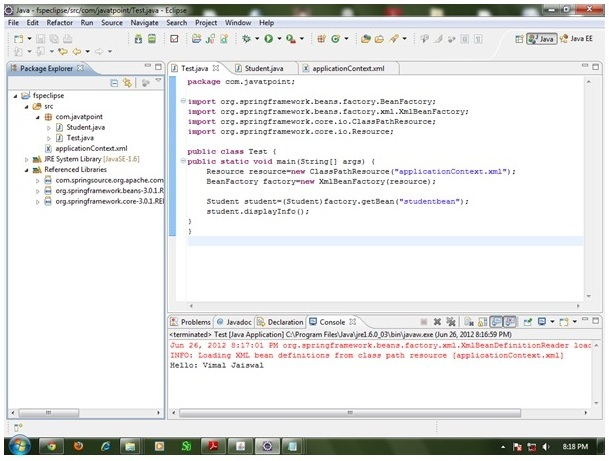 spring with eclipse IDE