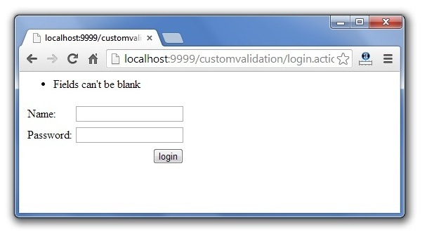 How to write custom validations in struts