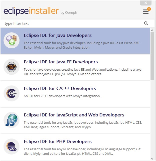 Install Eclipse IDE for Java Developers