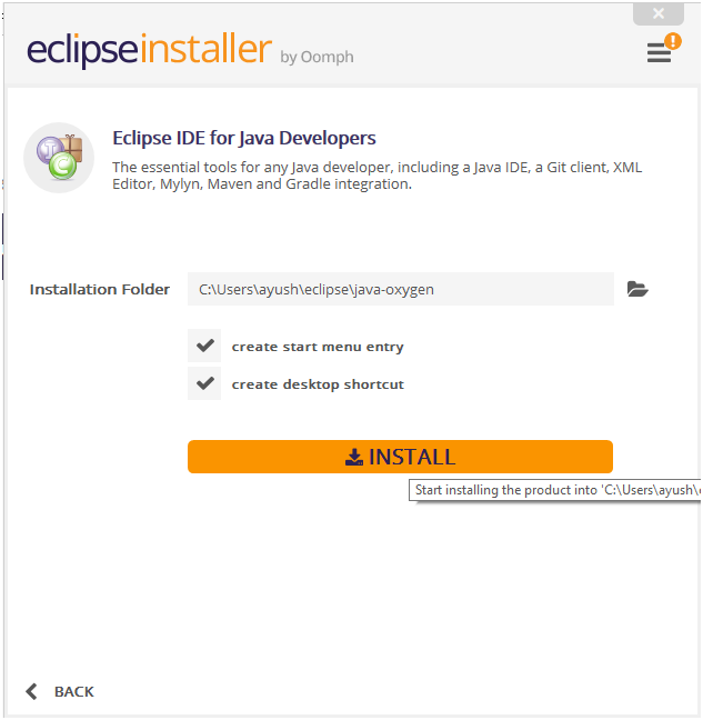 Install Eclipse IDE for Java Developers 1