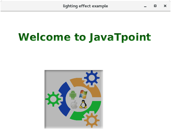JavaFX Lighting Effect