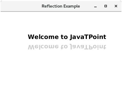 تعلم JavaFx ..مقال31_ التعامل مع المؤثرات البصرية JavaFX - Effects Javafx-reflection-effect