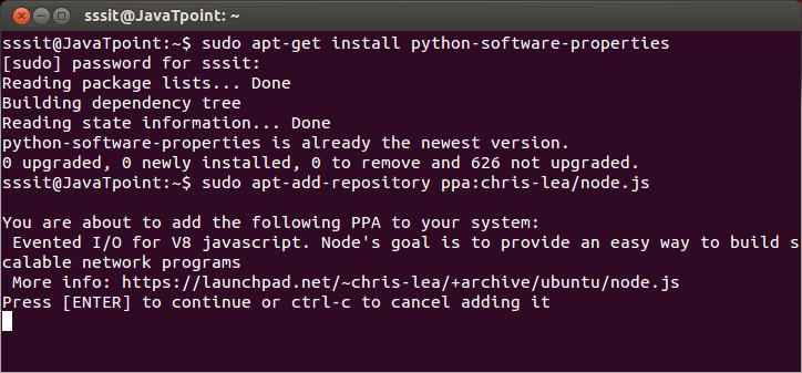 Install Node.js on linux/ubuntu/centos 3