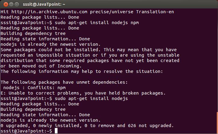install node js npm linux