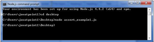 Node.js assert example 1