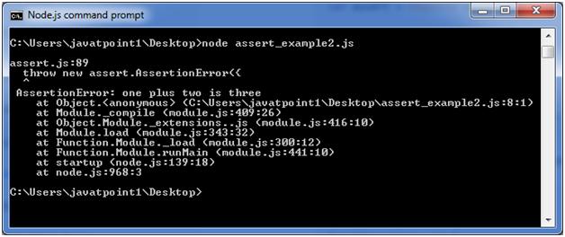 Node.js assert example 2