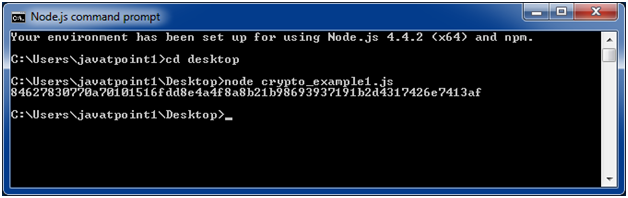 Node.js crypto example 1