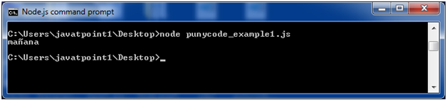 Node.js punycode example 1