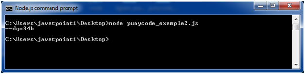 Node.js punycode example 2