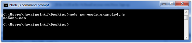 Node.js punycode example 4