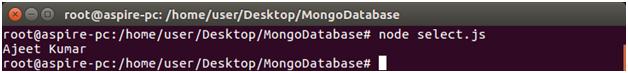 Node.js select record 1
