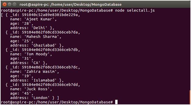 Node.js select record 2
