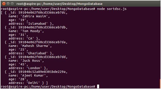 Node.js Sorting 2