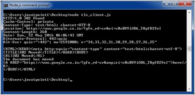 Node js TLS/SSL - javaTpoint