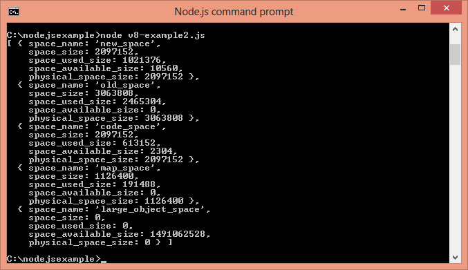 Node.js v8 example 2