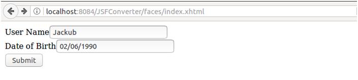 JSF f:convertDateTime - javatpoint