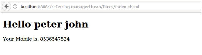 JSF Referencing managed bean method 2