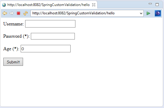 Spring MVC Custom Validation